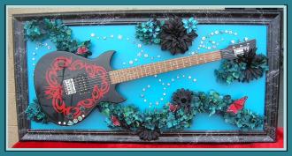 Guitar ART  BUTTERFLIES and HURRICANES