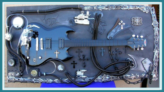 GUITAR ART  HEAVEN and HELL