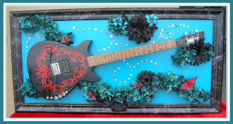 Guitar ART  BUTTERFLIES and HURRICANES