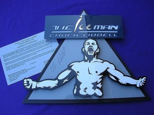"Chuck Liddell  - ""The Ice Man"" -  AUTOGRAPHED -3D- ART"