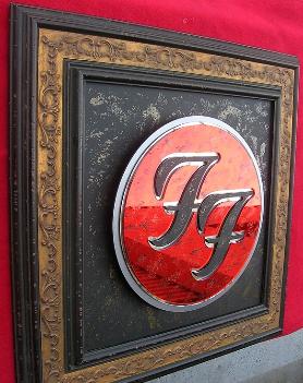 framed art Foo Fighters 3D ART by www.johnhoytart.com